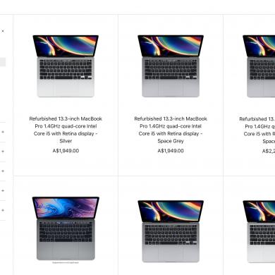 Refurbished 2020 MacBook Pro models