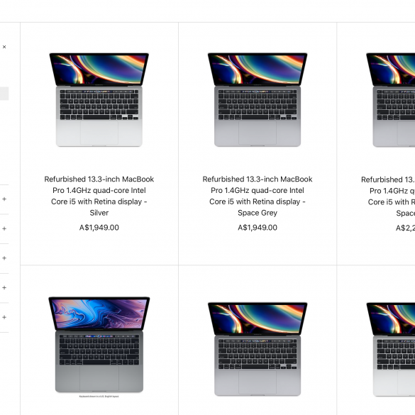 Refurbished 2020 MacBook Pro models