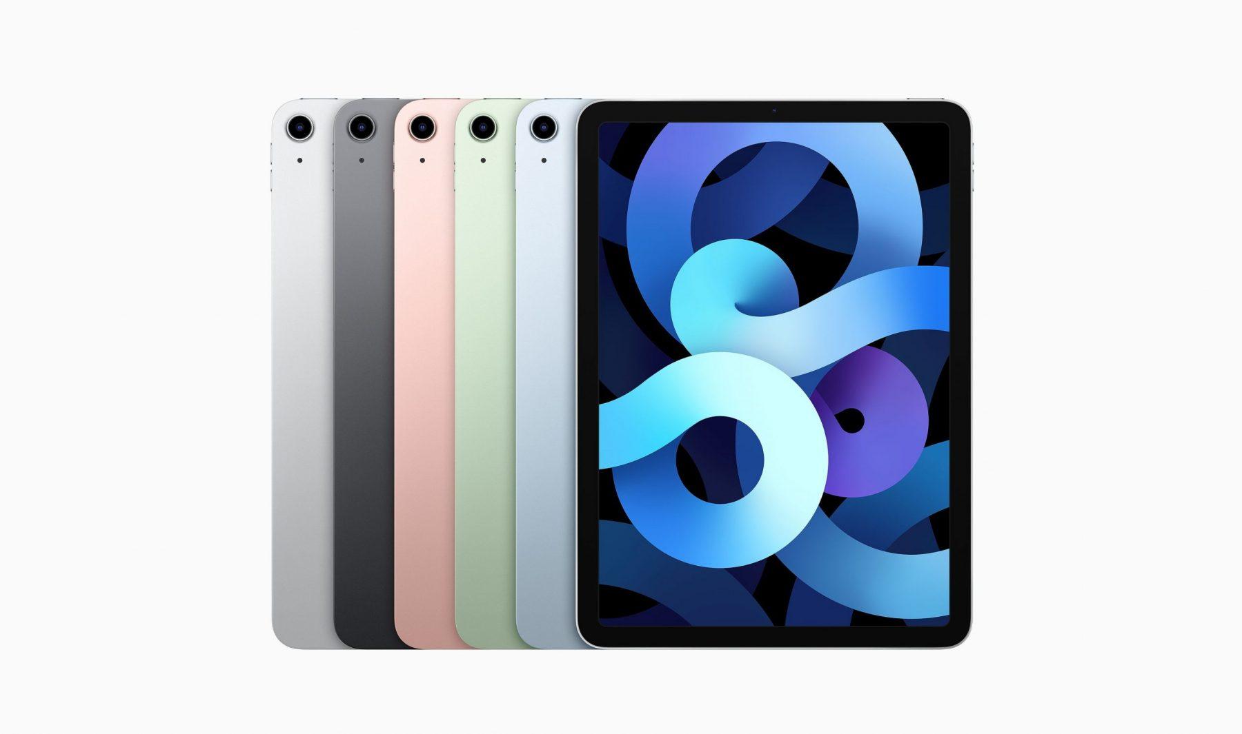 iPad Air 2020 range of colours