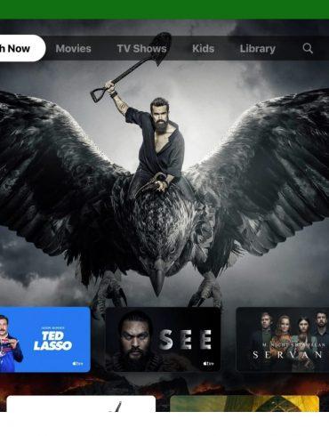 Apple TV app on Xbox Series X and Xbox Series S