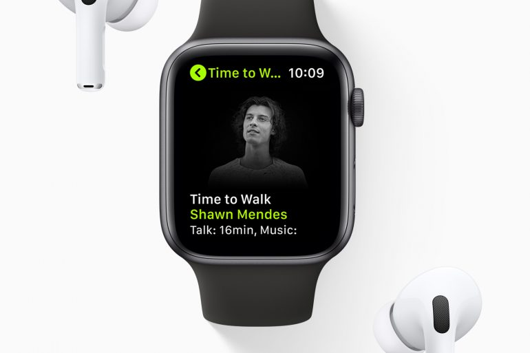 Apple Time To Walk on Apple Watch with AirPods