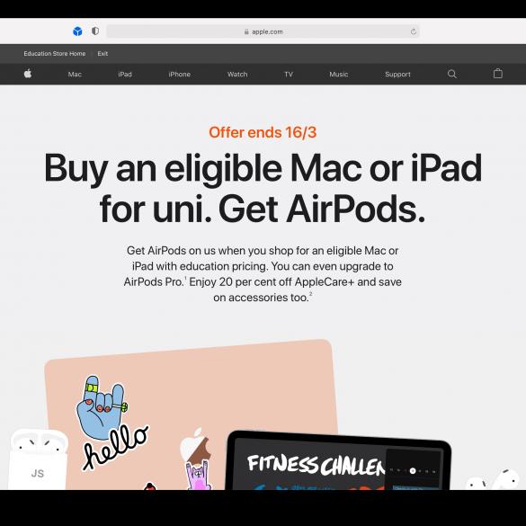 Apple online store Australia back to university offer 2021